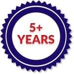 5 years of experience in the industry ribbon