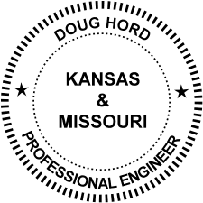 Doug Ford Kansas & Missouri Professional Engineer Badge